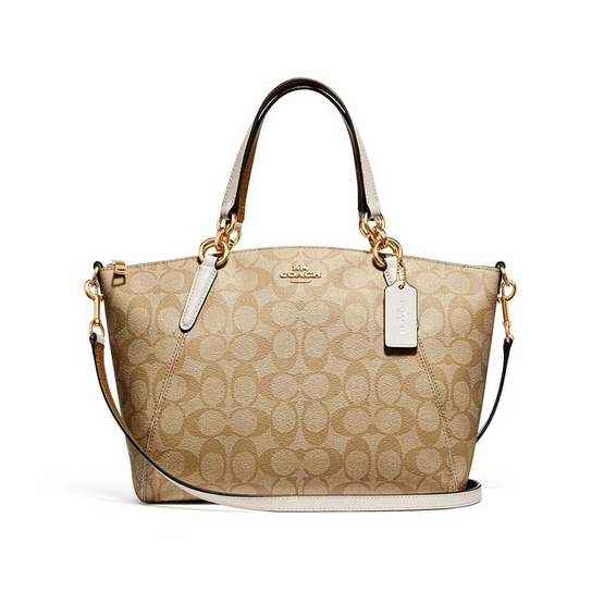 กระเป๋า COACH F28989 SMALL KELSEY SATCHEL IN SIGNATURE CANVAS (IMDQC) [MCF28989IMDQC]