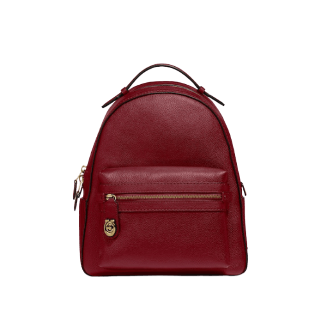กระเป๋า COACH Polished Pebble Campus Backpack Refresh