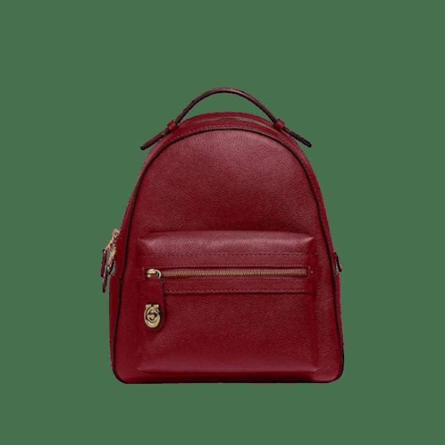 กระเป๋า COACH Polished Pebble Campus Backpack Refresh